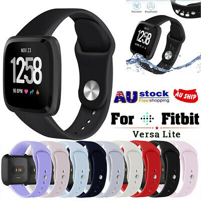 S/L Silicone Sports Replacement Watch Band Wrist Strap For Fitbit Versa Lite AU