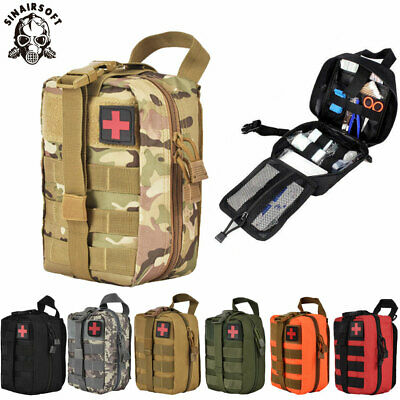60+PC IFAK FIRST Aid Kit Bag Pouch Trauma Medical Utility Molle