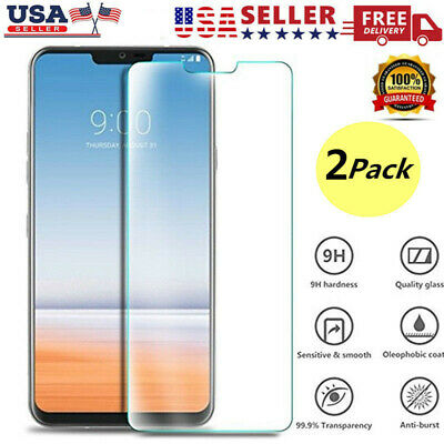 2PCS For LG V30 V40 9H Hardness Real Tempered Glass Clear Screen Protector Film