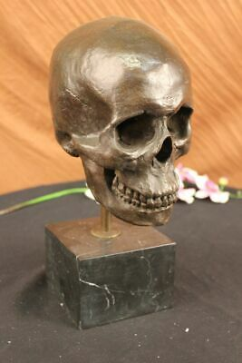 Handcrafted Hot Cast Skull Head Skeleton Halloween Home Office Decoration Gift