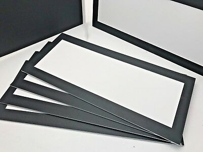 """Panorama 17x6"""" black strut or frame mats 6 in total"""
