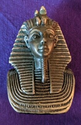 King Tut Poly Resin Statue Summit 2009 Egyptian Gold Bust Tiny 2in x 1.5 pharoah