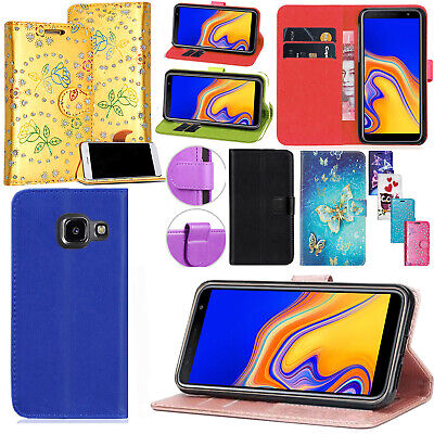 Luxury Flip Wallet Leather Magnetic Cover Case For Samsung Galaxy J3 J6 J4 Plus