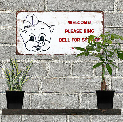 """Piggly Wiggly Grocery Store Ring Bell Man Cave Metal Sign Repro 6x12"""" 60555"""