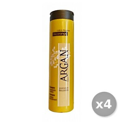 Set 4 BLU ORANGE Argan Shampoo Nutriente 200 ml Prodotti Per capelli