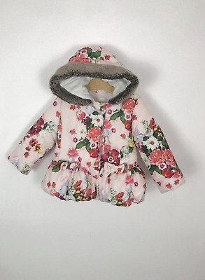18-24m Ted Baker baby girls pink floral padded coat