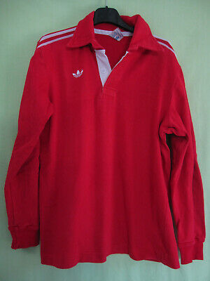 Maillot rugby Adidas Ventex 80'S Vintage Trefoil Coton Rouge Jersey - M