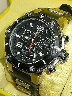 Mens Invicta 19526 50mm Speedway Chronograph Silicone Strap Watch