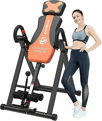 HEAVY DUTY INVERSION TABLE for Back Pain w/ Headrest Adjustable Protective Belt
