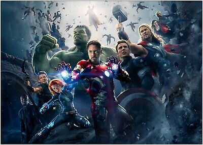 Marvel Avengers Movie Large Poster Art Print A0 A1 A2 A3 A4 Maxi