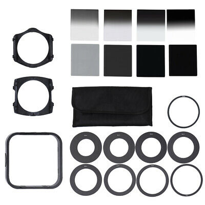 Complete ND2/4/8/16 Filter Kit F. Cokin P+Square Filter Holder+Adapter+Hood W1X2