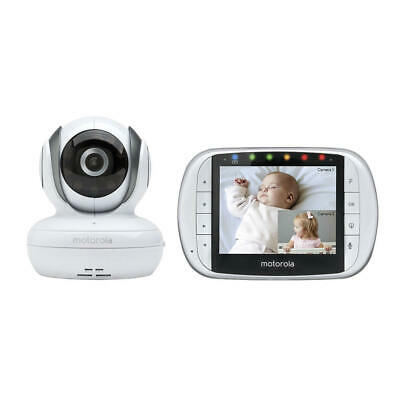 "Motorola MBP36S Remote Wireless Video Baby Monitor 3.5"" Full Color LCD & Camera"