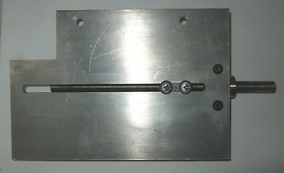 Custom aluminum positioning fixture plate with ball screw adjustment