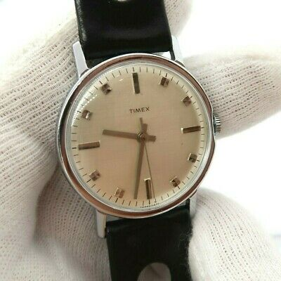 """TIMEX,Manual Wind,Ful-sized,Rally Round ,""""Silver Dial"""",N-Mint MEN'S WATCH,654"""