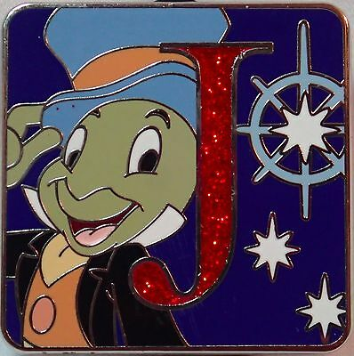 NEW 2015 Disney Parks Alphabet Mystery Trading Pin Letter J JIMINY Chaser LE 400
