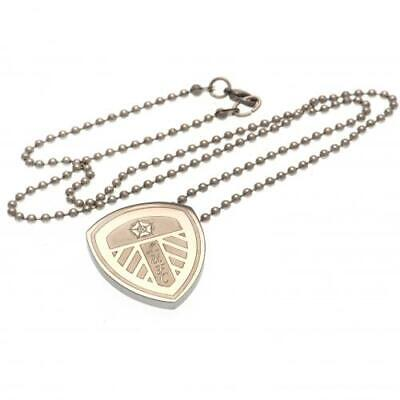 Leeds United FC Official LG Stainless Steel Crest Pendant and Chain