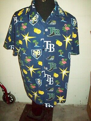 Tampa Bay Rays Hawaiian Shirt XL  20th Anniversary SGA