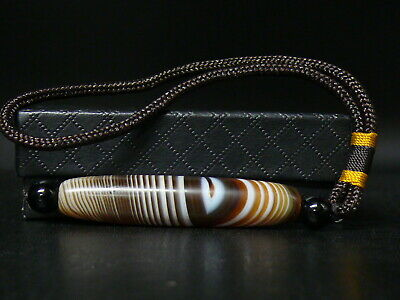 (uV379)  Beautiful  natural Agate Banded DZI Salomon Sulemani Suleimani Bead.