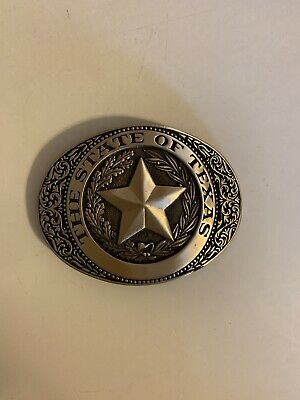 The State Of Texas Brass (Brand New) Vintage Belt Buckle
