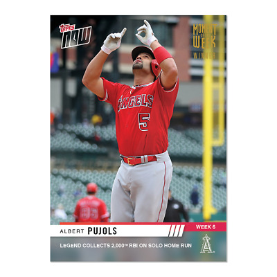 2019 Topps Now Albert Pujols Gold Moment Of The Week Winner  Mow-6 2000 Rbi