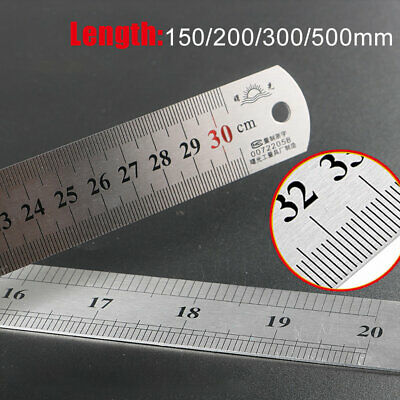 Stainless Steel Ruler 150 200 300 500mm Long Metric Stainless Steel Measure Tool