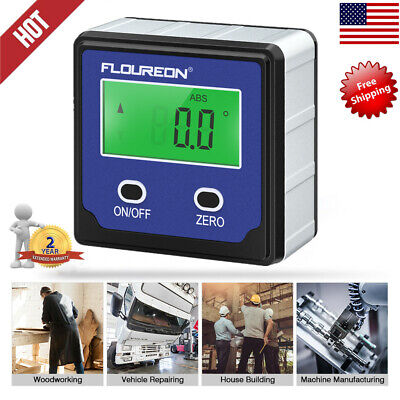 Level Box Protractor LCD Digital Inclinometer 0-360° Angle Finder Bevel Gauge US