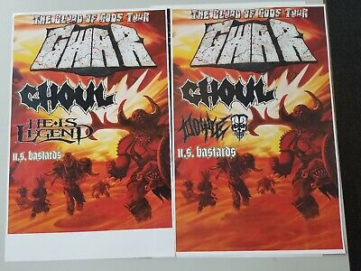 GWAR 11x17 promo tour concert poster cd shirt tickets
