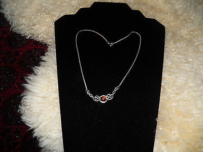 Very nice antique art noveau sterling amber necklace