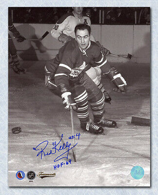 Red Kelly Toronto Maple Leafs Autographed Original Six Vintage Action 8x10 Photo