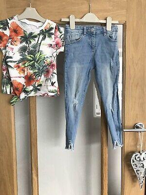 Next Girls Summer Outfit Age 5 Years Top & Jeans
