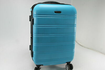 "Rockland 20"" Expandable Carry On Spinner Wheels Luggage Imported Turquoise/Aqua"