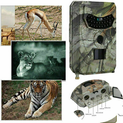 Infrared Night Vision HD 1080P 12MP IR 120° Trail Security Camera Hunting Cam