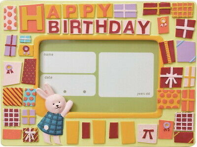 Clearance Baby/Kids Resin Photo Frame Animal Rabbit Happy Birthday