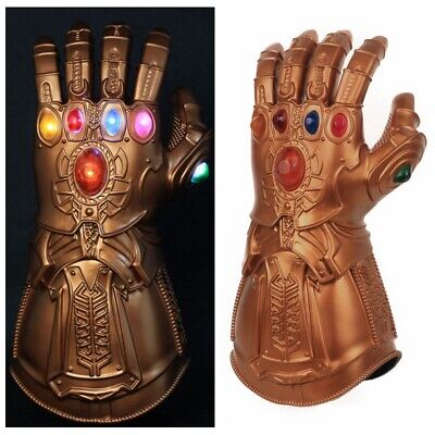 Thanos Infinity Gauntlet LED Light Gloves Cosplay Avengers Endgame Cosplay Prop
