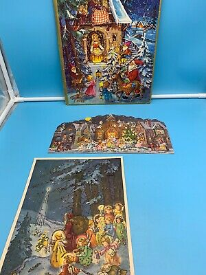 Vintage 1940'S 50'S German Advent Calendars 1 Is Pea Other 2 Are Made In Germany