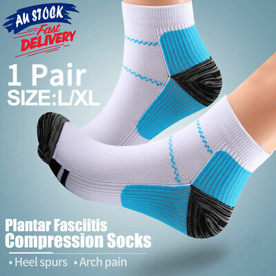 Plantar Sleeves Foot Compression Socks Pain Relief Fasciitis Heel Ankle Sox