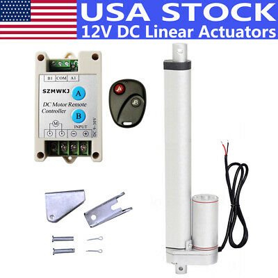 1000N/1500N Linear Actuator +Remote Controller DC12V Electric Motor RV Auto Lift