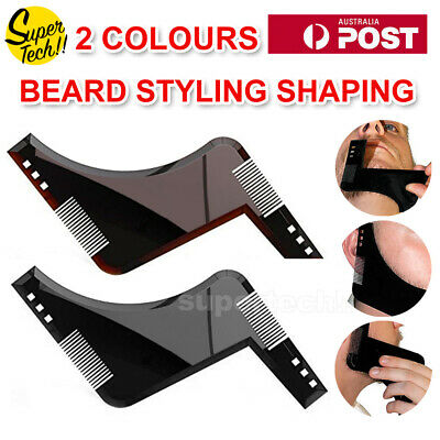 2019 Beard Styling Shaping Template Comb Tool Symmetry Trimming Shaper Stencil