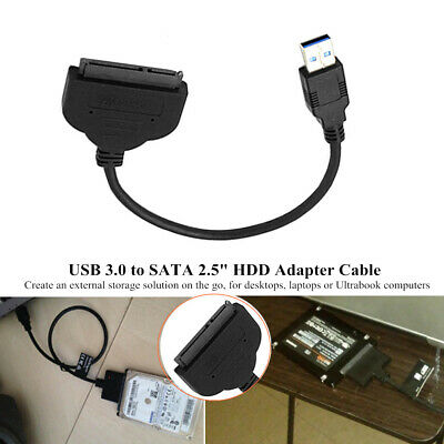 """22 Pin USB3.0 to UASP 2.5""""SATA Hard/Solid State Drive HDD Adapter Cable Function"""