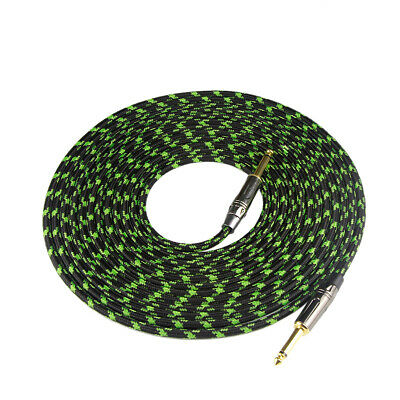6M/20Feet Nylon Braided Musical Instrument Cable 6.35mm Plug for Electric Guitar