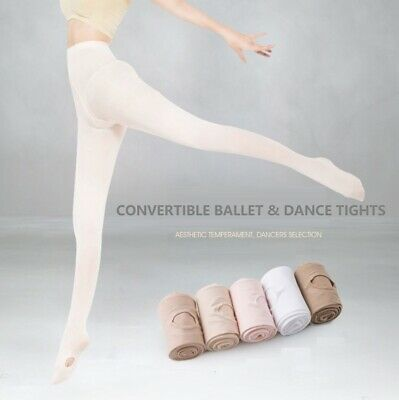 Convertible Tights Dance Stockings Ballet Pantyhose Size Children & Adult