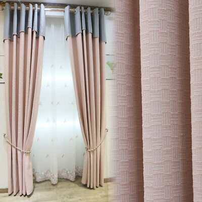 curtain cotton Nordic pink cloth thick livingroom shading curtain tulle M665