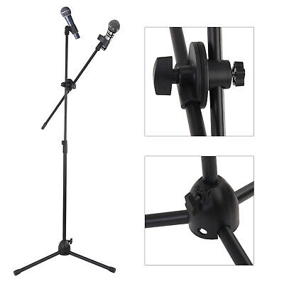 Professional Boom Microphone Mic Stand Holder Adjustable With Free Clips Hot