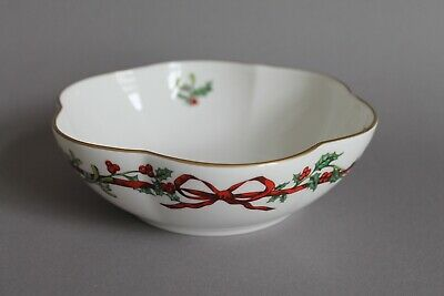 Royal Worcester Holly Ribbons Schale D. 17 cm England