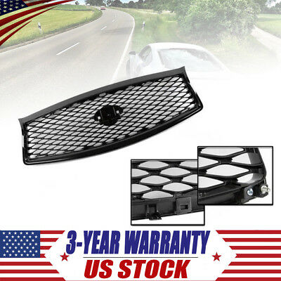 For 14-2017 Infiniti Q50 High Gloss Black Out Front Mesh Upper Grill Replacement