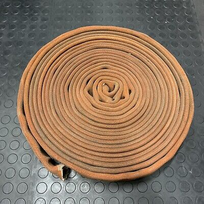 "Red FIRE HOSE 3"" INCH FLAT 45' FEET BOAT DOCK BUMPER Mooring Canvas Chafe Guard"
