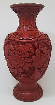 Good Antique Chinese Cinnabar Lacquer Vase