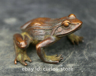 57MM Collect China Bronze Unique Mascot Frog Conforming To Good Taste Statue
