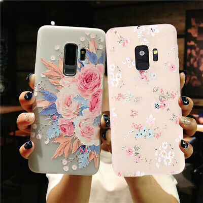 For Samsung Galaxy S7 Edge S8 S9 Plus Flower Shockproof Soft Phone Case Cover