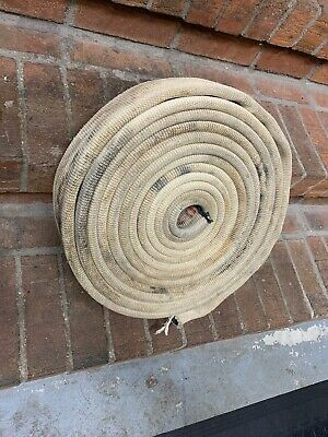"FIRE HOSE 3.25"" INCH FLAT 20' FEET BOAT DOCK BUMPER Mooring Canvas Chafe Guard"